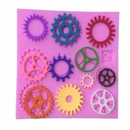 fda tools Australia - 17pcs lot Gears Shape Cake Mold Cake Mould Fondant Cookie Baking Chocolate Mold Cake Decorating Tools Kitchen Tools