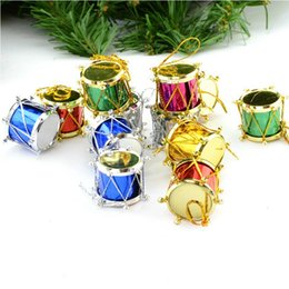 Hang drums online shopping - Hot Sale Mixed Color Mini Drum Christmas Decoration for Home Christmas Tree Hanging Decor Wedding Parties Tree Decor CTD1
