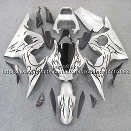 yamaha r6s fairings NZ - 23colors+5Gifts for yamaha R6S 2006 2007 2008 2009Body Kit motorcycle panels silver flames Fairing Plastic R6 2003 2005 R6S 06-09