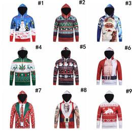 1df1947778 Xxxl Jumpers Canada - Christmas 3D Print Men Boy Hoodie 9 Styles Snowman  Deer Elk Sweatshirt