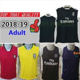 18 19 Paris vest soccer Jersey 2018 2019 Real Madrid MARIANO BALE ISCO Man  utd training vest PSG MBAPPE Messi RONALDO POGBA football shirts 08913394d