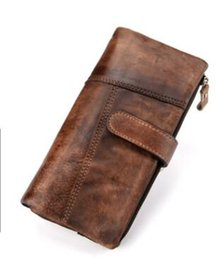 Wholesale Retro Wallet Men s High Quality Cowhide Wallet Brown First Cowhide Short Multi Card Storage Fashion Money Card Pack