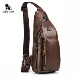 Patchwork Men Genuine Leather Chest Bag Back Pack Mens Messenger Bags Vintage Unbalance Male Shoulder Sling Bag Li-1587 Bridal & Wedding Party Jewelry