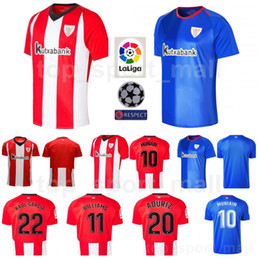 0b8334201d0fa 2018 2019 Soccer Athletic Bilbao Jersey FC Men La Liga 10 MUNIAIN 11  WILLIAMS 20 ADURIZ 22 RAUL GARCIA Football Shirt Kits Uniform
