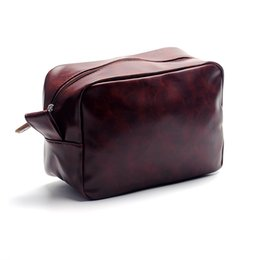 Men s Shaving Bag Wholesale Blanks Faux Leather Cosmetic Bag Father s Day Dopp  Kit Gift for Thanksgiving DOM106137 19647231d8