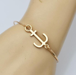 $enCountryForm.capitalKeyWord NZ - Bracelets for Women Fashion Jewelry Gold Plated Charms Anchor Bracelet Cuff Bangle Men Pulseras Best Friend Gift Charm Bracelets