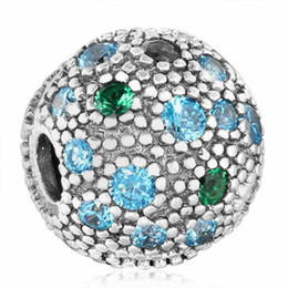 Chinese  2018 New 100% 925 Sterling Silver Micro Pave Three Color CZ Cosmic Stars Stopper Lock Clip Charm Beads For Jewelry Making DIY Brand Bracelet manufacturers