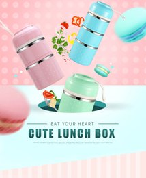 Wholesale Cute Japanese Thermal Lunch Box Leak Proof Stainless Steel Bento Box Kids Portable Picnic School Food Container Box