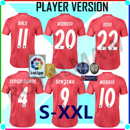 886420a2d Real Madrid Jersey 2019 Third Red Player Version Away Soccer Shirt Match  Game Football RMCF Tercera EQUIPACIÓN Camiseta Maillot Maglia 1819