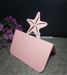 50pcs lot laser cut Seaside Style Star Design Wedding Invitation Table Holder Cards Name Place Seat Paper Cards Party Decoration