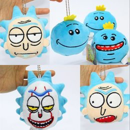 Doll Decoration games online shopping - Cartoon Plush Doll Rick And Morty Q Edition Mr Meeseeks Stuffed Pendent Lovely Home Decoration Gift sj WW