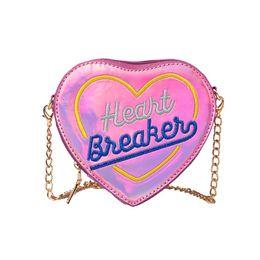 Heart Shaped Handbags Wholesale NZ - Children Leer Heart-Shape Girls Kids Handbag Women Bag Shoulder Bag Mini Messenger designer handbags high quality Flap