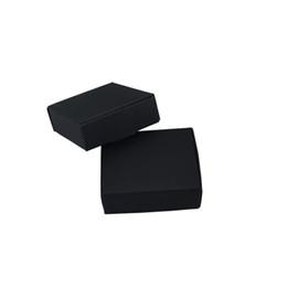 Kraft Jewelry Gift Boxes UK - 7.5*7.5*3cm Blank Carton Box Jewelry Kraft Paper Christmas Gifts Foldable Box Wedding Favors Candy Pack Party Decor Boxes 50Pcs Lot