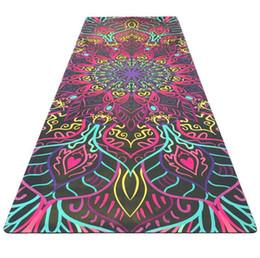 Vente en gros Modèle de mode yoga fitness mat qualité santé anti-dérapant daim tapis de caoutchouc usine directe