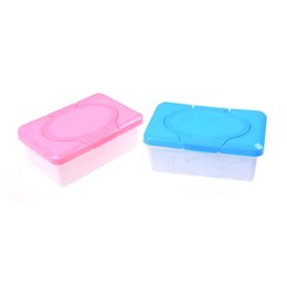 Discount wet wipes box - Plastic Dry Wet Tissue Box Case Baby Wipes Press Pop-up Design Home Tissue Holder Accessories Pink blue colors