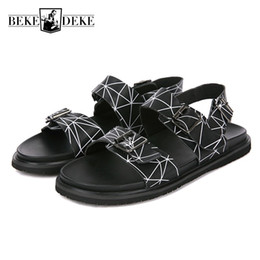 $enCountryForm.capitalKeyWord Canada - Summer 2018 New Men Sandals High Quality Leather Beach Shoes Men Designer Casual Buckle Open-toed Sandalia Masculina Slides