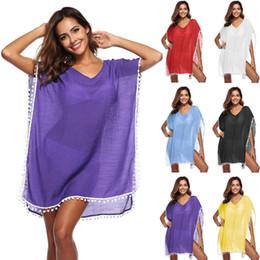 491b46357804 Girls beach cover ups online shopping - 2018 Summer Tassel Cover Ups Bikini  Women Swimwear Sexy