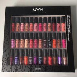 Venta al por mayor de Envío de la gota NYX SOFT MATTE LIP CREAM nyx 36PCS Set Lipstick Lip Gloss Matte Sin desvanecimiento Sofe Velvet Lip Makeup 36 colores set