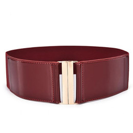 $enCountryForm.capitalKeyWord UK - Fashion Leather Corset Cummerbunds Women Girls High Waist Belts Elastic Stretch Belt Strap Waistband Cinch Accessories