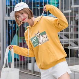 Felpa con cappuccio oversize stile giapponese Kawaii Felpe con cappuccio  donna autunno coreano Ulzzang moda carino felpe scolara vestiti 1e12b9872342