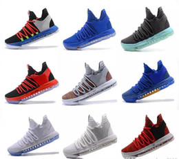 2e9fba8fc514 2018 KD 10 Multi-Color Oreo Numbers BHM Men Basketball Shoes KD X Elite Mid  Kevin Durant Sport Sneakers with box free shipping DHL