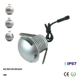 cree outdoor lighting 2018 - 3W Outdoor Garden IP67 Patio Paver Recessed Deck Lamps, 12V Floor Wall LED Underground Lamp CREE Chip Landscape Sidewalk