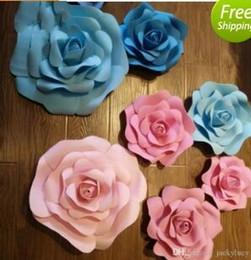 Vente en gros 20 cm à 40 cm disponible grande mousse rose fleur fête fenêtre d'affichage fleur pour le mariage de noël décorations 42 couleurs