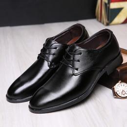 bridegroom shoes 2019 - Men Dress Shoes Men Formal Shoes Leather Luxury Fashion Bridegroom Wedding Oxford For Sale hjm8 cheap bridegroom shoes