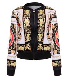 Chinese  bomber Jacket long sleeved Thin Windbreaker Zipper Jacket women Classic Printed Logo Baseball Jersey Jackets Cardigan coat manufacturers