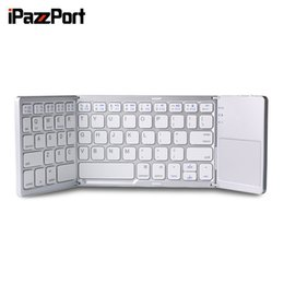 bluetooth keyboard for android phone NZ - iPazzPort 75BT Bluetooth Keyboard BT3.0 Folding Ultra-slim Design 64 Keys for Android Windows PC TV Tablet Phone Black White