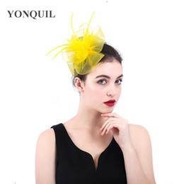 Crinoline Hair NZ - New fashion party ascot hair headdress nylon crinoline flower fascinator women hats DIY hair accessories ladies married headband SYF394