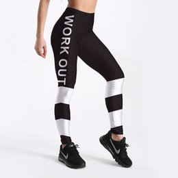 $enCountryForm.capitalKeyWord NZ - Pottis Women Legging New Black White Work Out Letter Printed Push Up Slim Tights Fitness Pants Femme Sports Yoga Pants Plus Size 4XL