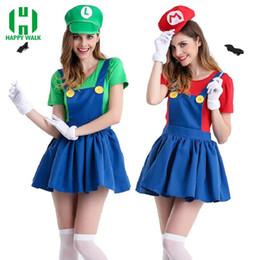 $enCountryForm.capitalKeyWord Australia - Accessories Cosplay s Halloween Super Mario Costume Women Luigi Costume Clothing Sexy Plumber Costume Super Mario Bros Fantasia Costumes ...