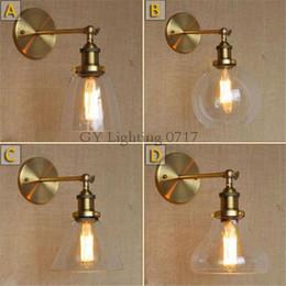 110V 220v 230v God Retro Industrial Bronze Vintage Wall Lamp Light Wall  Sconce Adjustable Handle Metal Rustic Light Sconce Fixture