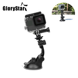 xiaomi gps NZ - GP-502 7CM Suction Cup for Gopro Hero 6 5 Black Hero 4 3 SJ4000 Xiaomi Yi 4K Mijia 4 k H9 with Tripod Adapter Go Pro Accessory