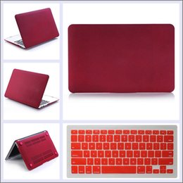 $enCountryForm.capitalKeyWord NZ - Wine Red Matte Rubberized Hard Case Shell with Keyboard Cover for Mac Book 11