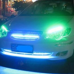 Yellow car leds online shopping - Hot Sale New Car styling Energy saving LED Soft Bright Light Bars LEDs For Car Middle Guard Grille Driving Working Light