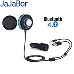 Dual Audio Car Australia - JaJaBor Bluetooth Receiver Car Kit Handsfree IOS Siri with Dual USB Charger Aux 3.5mm Audio Music Receiver Adapter Magnetic Base