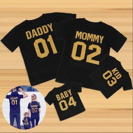 Match Clothing Mom Baby NZ - 2018 New Arrival Girl Boy Mom Family Look Summer Fashion Dad Mum Baby T-shirts Outerwear Number Printed Family Matching Outfits Clothing