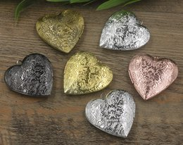 $enCountryForm.capitalKeyWord NZ - 29*27MM Silver antique bronze rose gold black gun flower heart photo locket charms jewelry, China tibetan picture frame pendants wish box