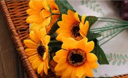 $enCountryForm.capitalKeyWord Australia - Sunflower Artificial flowers artificial flowers bouquet simulation 7 small sunflower sunflower home living room decoration flowers wholesale