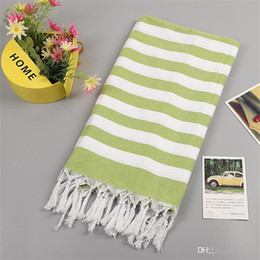 $enCountryForm.capitalKeyWord Australia - Cotton Material Tassels Beach Towel Color Weaving Stripe Sunscreen Washcloth Multi Function Shawl Gift Mix Color Hot Sale 22 5sp ii