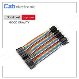 arduino dupont wire 2019 - 40PCS Dupont 10CM Male To Female Jumper Wire Ribbon Cable for Arduino cheap arduino dupont wire