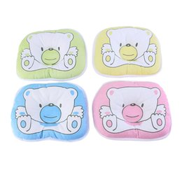 Chinese  2017 High Quality Bear Pattern Pillow Newborn Infant Baby Support Cushion Pad Prevent Flat Head Hot Selling manufacturers