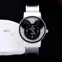 Wholesale Steel Bracelet Watch Women Elegant Quartz Mouse Head Display Dial Fashion Casual Bangle Watches Gift for Girls Lady