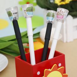 Grass pens online shopping - New Creative Cultivate Plant Gel Pen mm Black Ink Garden Grow Grass Pen Office Stationery Lovely Children Lovers Gift