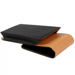 chinese cards UK - Universal Belt Clip PU Leather Waist Holder Flip Pouch Case for Prestigio Grace P7 LTE R5 LTE S7 LTE
