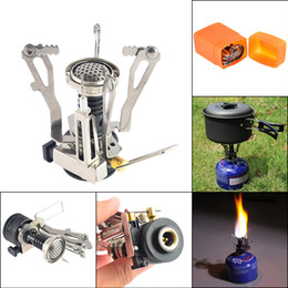 Ultralight Backpacking Stoves Australia - Portable Mini Ultralight  Backpacking Canister Outdoor Camping Stove with Piezo Ignition e97ea59789fc