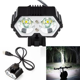 $enCountryForm.capitalKeyWord NZ - Bicycle Accessories Headlight Flashlight 6000LM 2 X CREE XM-L T6 LED USB Waterproof Lamp Bike Bicycle Headlight Y1892809