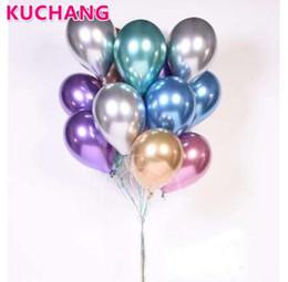 Vente en gros 50 pcs 12 pouces Latex Chrome Or Argent Mariage Bébé Douche Anniversaire Carnaval Parti Décor Métallique Ballons Fournitures Hélium Faveurs